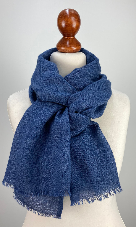 Cool Colour Kaschmir Schal dunkles grau-blau