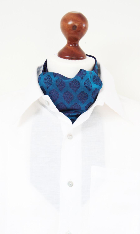 Krawattenschal blau-lila