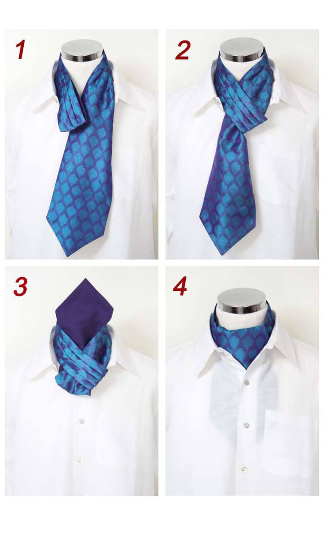 Krawatten Schal Anleitung