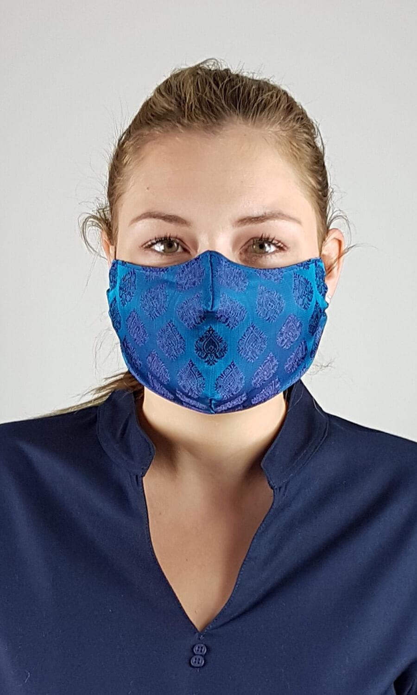 Unisex Seiden Maske blau-violett