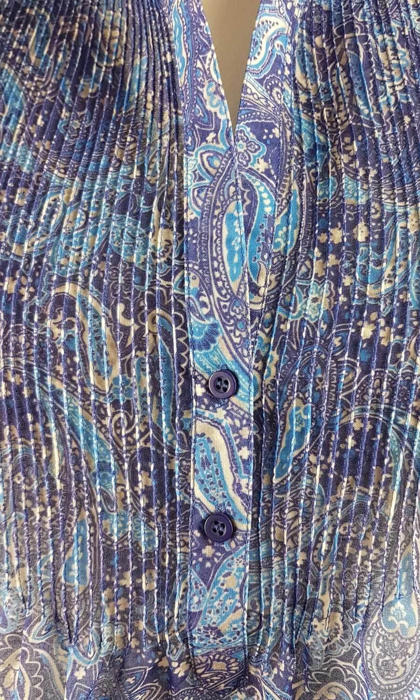 Damen Tunika Paisley blau