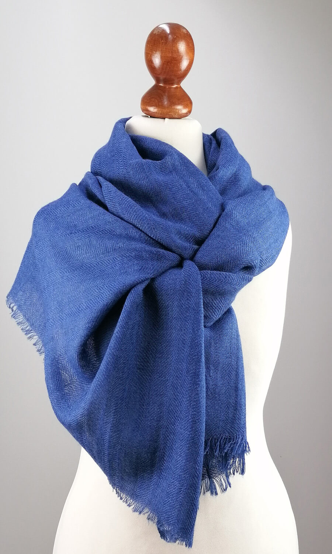 Cool Colour Kaschmir Stola grau - blau