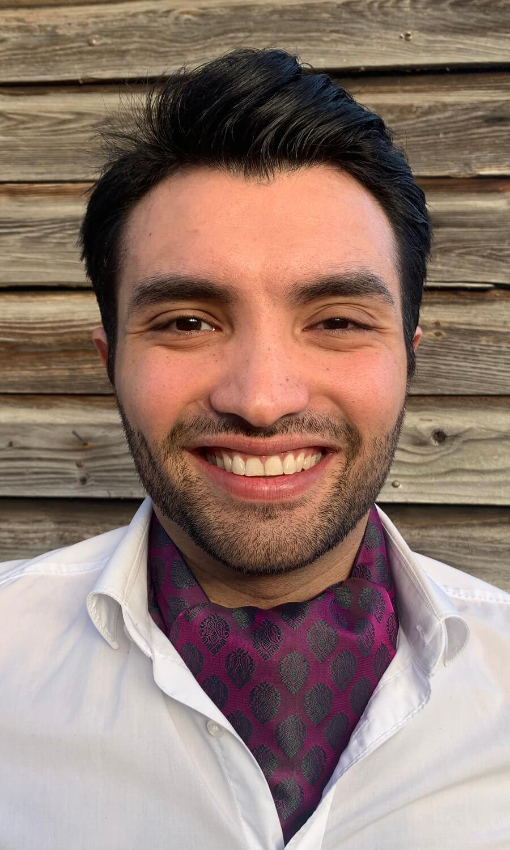 Krawattenschal lila