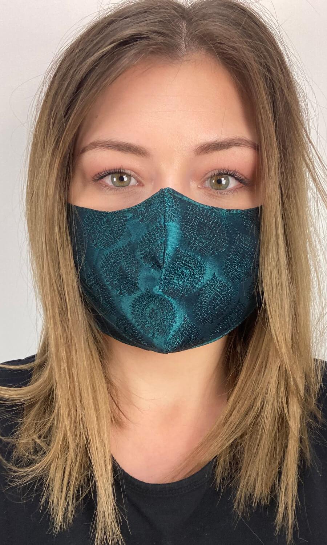 """Seiden Maske """"Smaragd"""""""