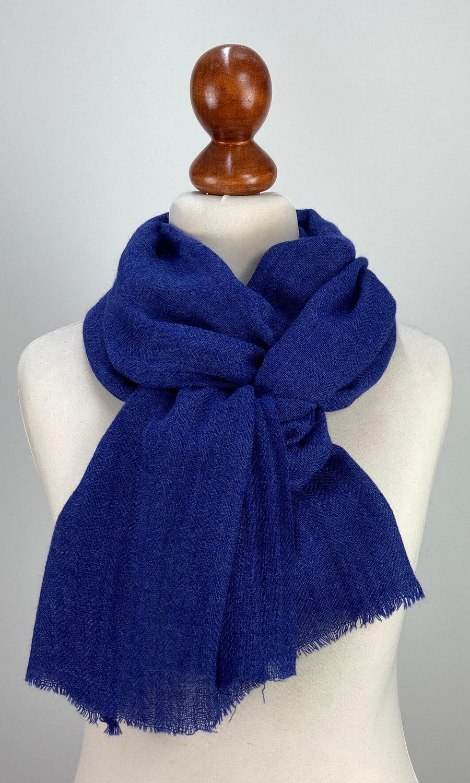 Cool Colour Kaschmir Schal royal blau