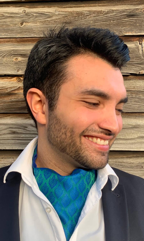 Krawattenschal grün-blau