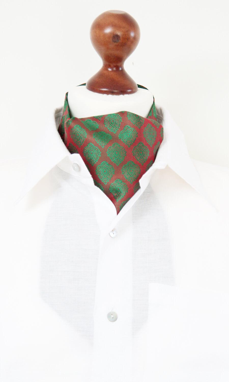 Krawattenschal rot-grün