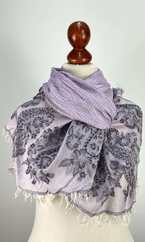 Seiden Schal gecrushed lavendel