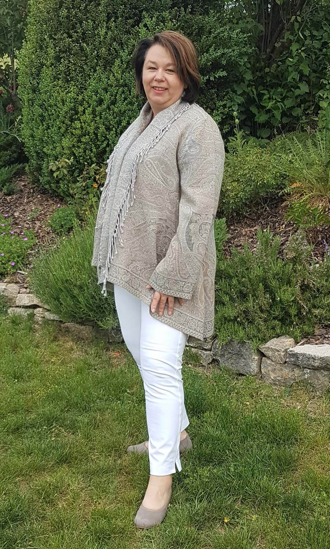 Jamawar  Jacke - Grey Elegance