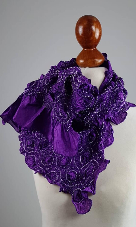 Tie Dye dunkles lila
