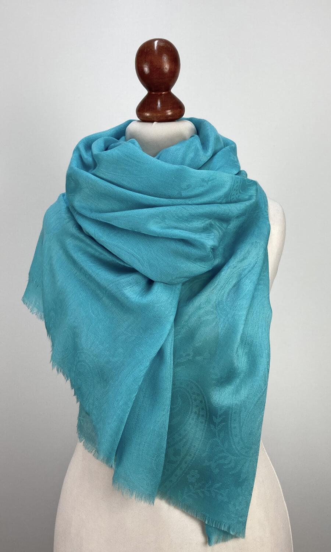 Kashmina Stola Sanftes Blau