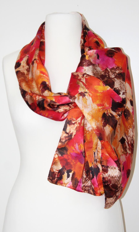 Seiden Flower Schal