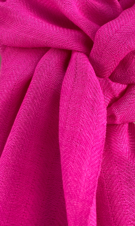 Cool Colour Kaschmir Schal strahlendes pink