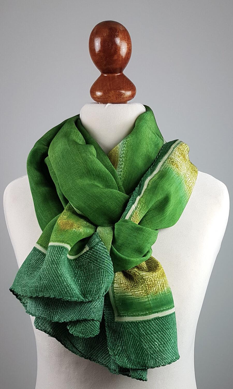 Benares Seidenschal - Green Grace