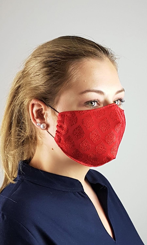 Unisex Seiden Maske rot