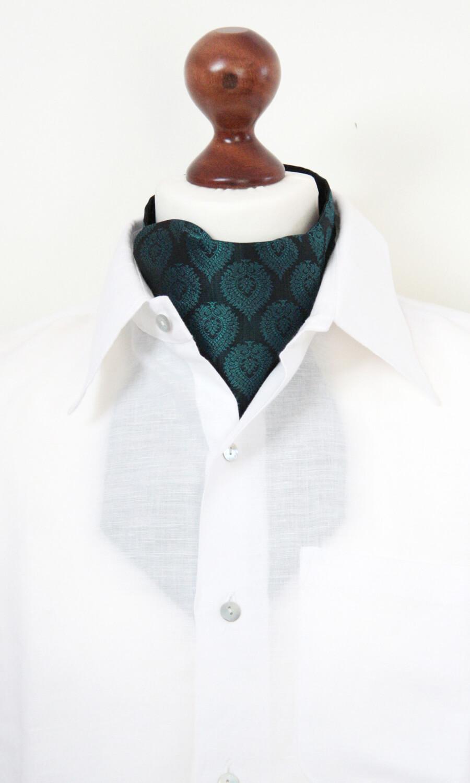 Krawattenschal jägergrün-schwarz