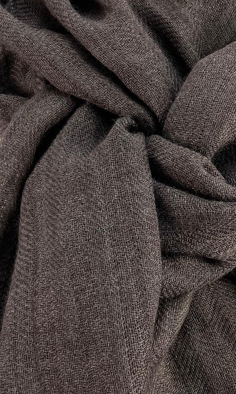Cool Colour Kaschmir Schal dunkles braun